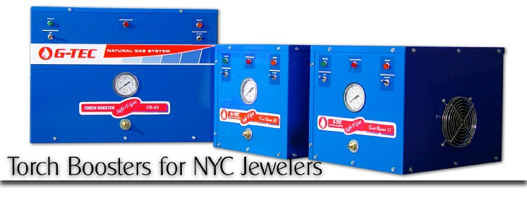 Gas boosters for New York diamond district jewelry manufacturers