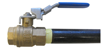 G-TEC provides a shutoff valve with each gas booster